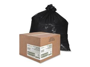 """Nature Saver Trash Can Liners Rcycld 55-60 Gal 1.65mil 38""""x58"""" 100/BX BK 00994"""