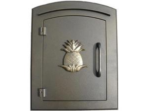 QualArc MAN-1405-BZ Manchester Pineapple Logo Door Column Mount Mailbox - Bronze