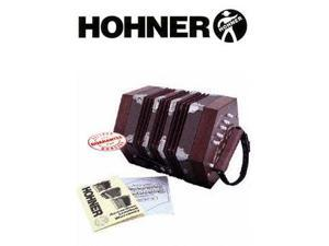 Hohner Concertina Mahogany Finish D40