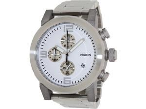 Nixon Men's Ride SS A347100-00 Silver Stainless-Steel Quartz Watch with Silver Dial