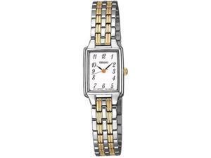 Seiko Women's SXGL61 Silver Stainless-Steel Quartz Watch with White Dial