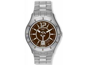 Swatch Men's In A Brown Mode Watch YTS406G