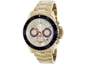 Michael Kors Everest Chronograph Blue Gold Tone Mens Watch MK5792