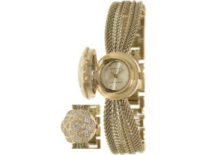 Anne Klein Women's AK-1046CHCV Gold Metal Swiss Quartz Watch with Gold Dial