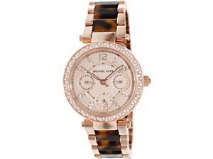 43353224726 Michael Kors Multi-Function Rose Dial Rose Gold-tone   Tortoise-shell Watch
