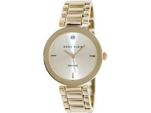 Anne Klein Women's AK-1362CHGB Gold Stainless-Steel Quartz Watch with Gold Dial