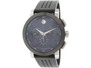 Movado Museum Mens Black Dial Swiss Quartz Chronograph Watch 0606545