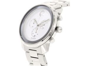 Movado Bold Mens Silver Dial Chronograph Swiss Quartz Watch 3600276