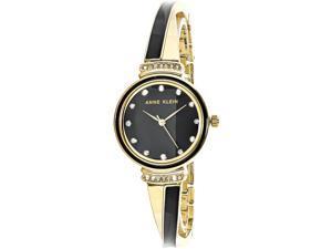 Anne Klein Women's AK-2216BKGB Gold Metal Quartz Fashion Watch