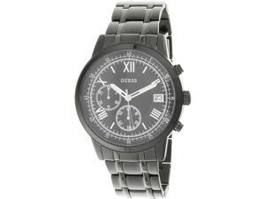 Guess Men's U1001G3 Black Stainless-Steel Japanese Quartz Fashion Watch