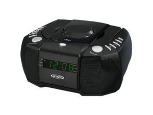 JENSEN Dual Alarm Clock AM/FM Stereo Radio with Top Loading CD Player JCR-310