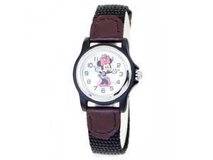 Disney Minnie Mouse Nylon Strap Silver Dial Women's watch #MCK624