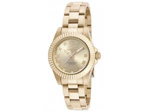 Invicta Women's 16762 Pro Diver Quartz 3 Hand Gold Dial Watch