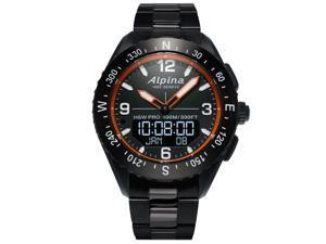 Alpina AL-283LBO5AQ6B Men's AlpinerX HSW Black Dial Smartwatch