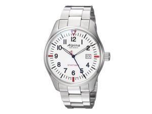 Alpina AL-240S4S6B Men's Startimer Pilot Quartz White Dial Watch