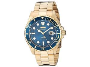 Invicta 30024 Men's Pro Diver Yellow Gold Steel Blue Dial Watch