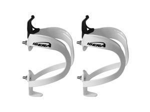 Cycling Ibera White Lightweight Aluminum Water Bottle Holder Pair