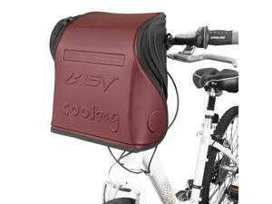 BV Insulated Handlebar Cooler Bag for Warm or Cold Items - With Shoulder Strap and Quick-Release Handlebar Mount, BV-HB3-RD