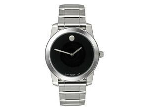 Movado Vizio Series Mens Blk Dial Ceramic Bezel Swiss Quartz Dress Watch 0605808