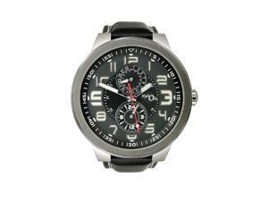 HydrOlix Multifunction Black Leather/Black Dial Mens watch #XA00103
