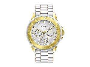 Bulova Ladies' White Stainless Steel Watch 98N102
