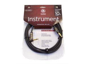 Planet Waves 10ft Circuit Breaker Instrument Cable - Right Angle End