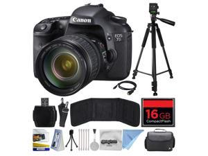 Canon EOS 7D 18 MP CMOS Digital SLR Camera with 28-135mm f/3.5-5.6 IS USM Lens with 16GB Memory, Large Case, Tripod, Card Reader, Card Wallet, HDMI Mini Cable, Cleaning Kit, $50 Gift Card 3814B010