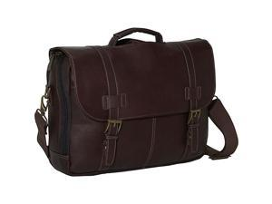 Kenneth Cole Reaction Show Business Colombian Leather Flapover Computer Case - Brown