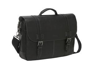 Kenneth Cole Reaction Show Business Colombian Leather Flapover Computer Case - Black
