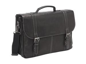 Heritage Colombian Leather Flapover Briefcase