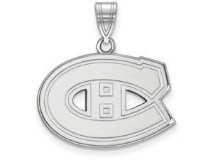 Sterling Silver NHL Montreal Canadiens Medium Pendant