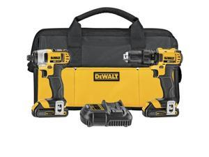 Dewalt DCK280C2R 20V MAX 1.5 Ah Cordless Lithium-Ion 1/2 in. Compact Drill Driver and Impact Driver Combo Kit
