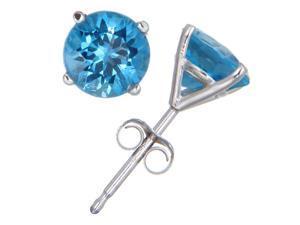 6e2ffe7d6f04dd FineDiamonds9 FD9S200SBTW 2ct Blue Topaz 14k White Gold Stud Earrings