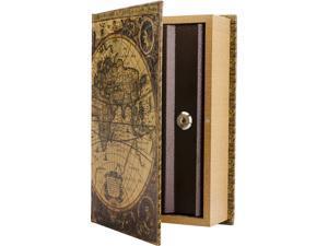 Barska CB12480 Antique Map Diversion Book Lock Box