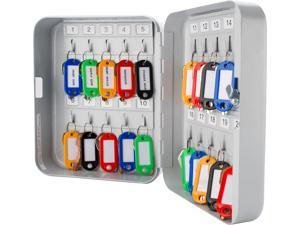 "Barska Key Cabinet, 20 Capacity, 8"" H Matte  Steel CB12482"