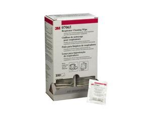 3M 504/07065 Respirator Cleaning Wipes (Box of 100 wipes)