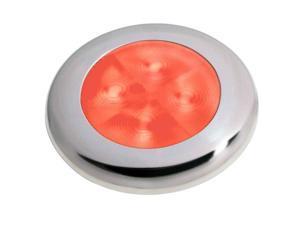 Hella Marine Round Courtesy Lamp - Red LED - Stainless Steel Bezel Round Courtesy Lamp