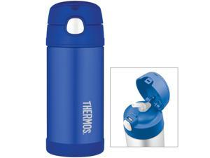 Thermos FUNtainer Stainless Steel, Insulated Straw Bottle 12oz. (Blue)