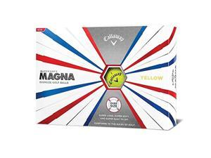 Callaway 642665612 Callaway Golf Supersoft Magna Golf Balls - Yellow - Dozen