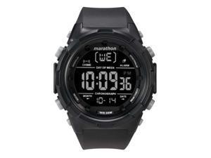 Timex Marathon Digital 50mm Resin Strap Watch - Black/Negative - TW5M22300