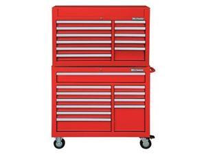 Combo Chest/Cabinet, 42 In, 22 Drw, Red