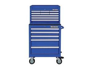 """WESTWARD 7CY29 26""""W Tool Chest and Cabinet Combination 14 Drawers, Blue,"""