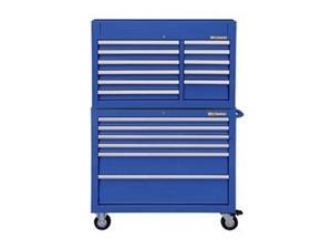 Combo Chest/Cabinet, 42 In, 17 Drw, Blue