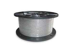 Cable, 3/64 In, L 500 Ft, WLL 75 Lb