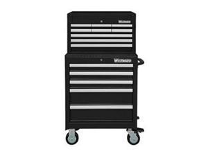 """WESTWARD 7CY07 26""""W Tool Chest and Cabinet Combination 14 Drawers, Black,"""