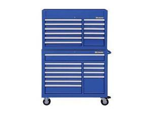 """WESTWARD 7CY35 42""""W Tool Chest and Cabinet Combination 22 Drawers, Blue,"""