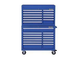 Combo Chest/Cabinet, 42 In, 24 Drw, Blue