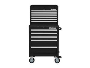 Combo Chest/Cabinet, 26 In, 11 Drw, Black