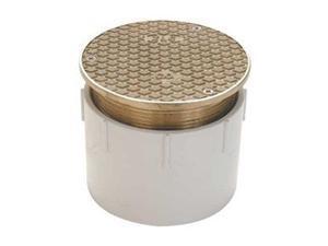 "ZURN CO2450-PV4 5-3/16 "" PVC, Nickel Bronze Floor Cleanout"