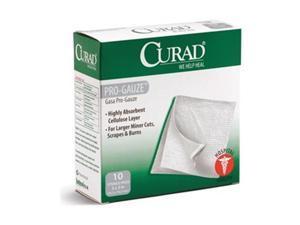 CURAD CUR20433RB Gauze Pad, Sterile, White, PK10